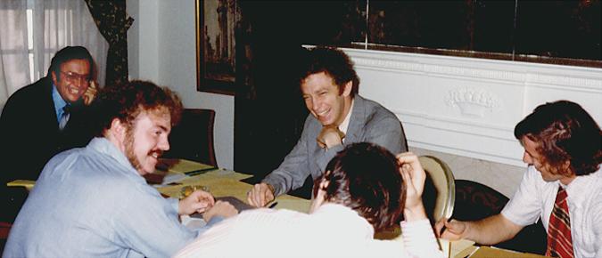 John Meier with Watergate Committee Investigators